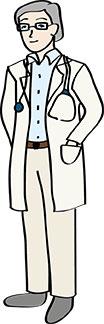 Arzt im weißen Kittel