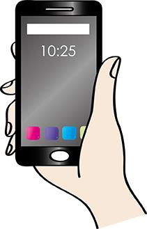 Ein Smartphone in der Hand