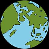Weltkugel - Erde