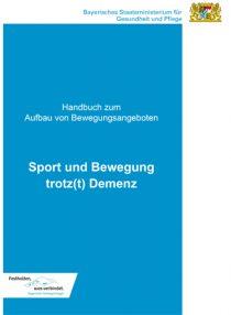 Titelblatt der Broschüre: Sport und Bewegung trotz(t) Demenz - Handbuch zum Aufbau von Bewegungsangeboten