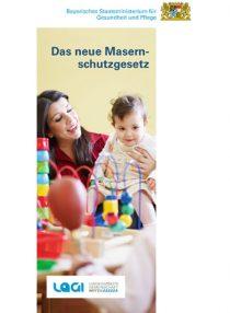 Titel des Faltblatts: Das neue Masernschutzgesetz