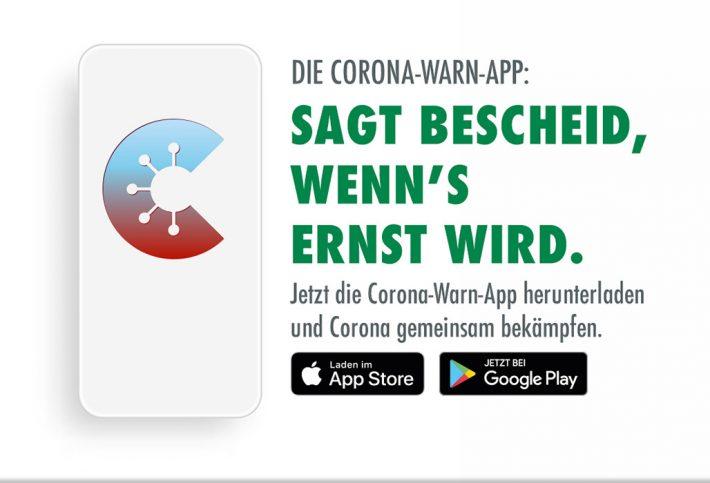 Corona-Warn-App der Bundesregierung: Sagt Bescheid, wenn's ernst wird.