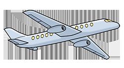Ein Flugzeug fliegt