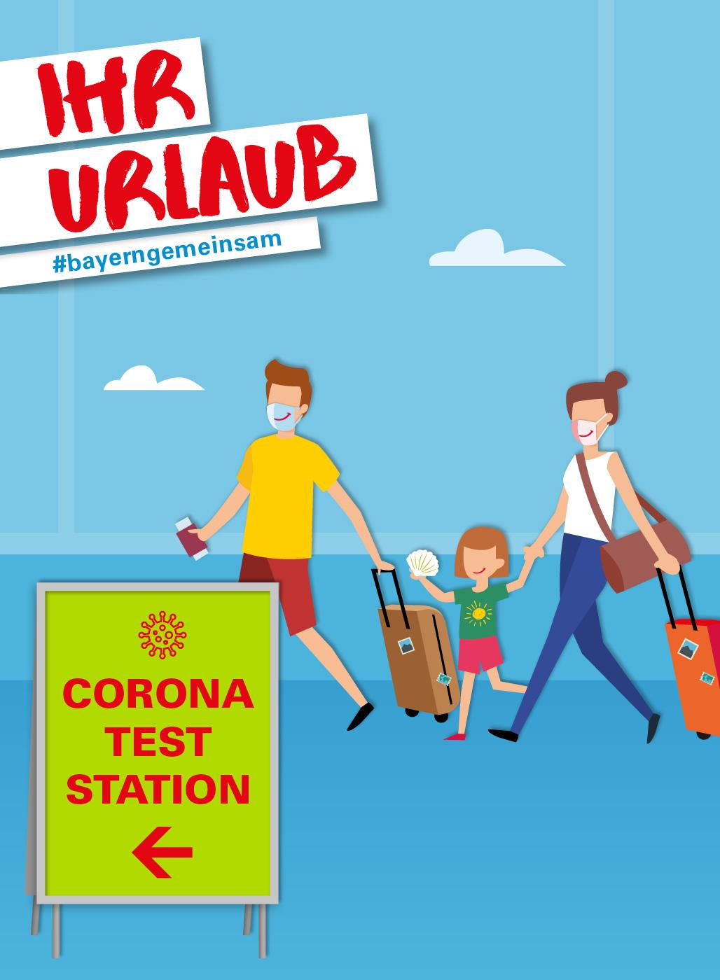 Bild für Kampagne: Ihr Urlaub: #bayerngemeinsam. Corona-Test-Station