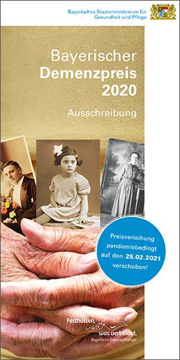 Ausschreibungsflyer Bayerischer Demenzpreis 2020