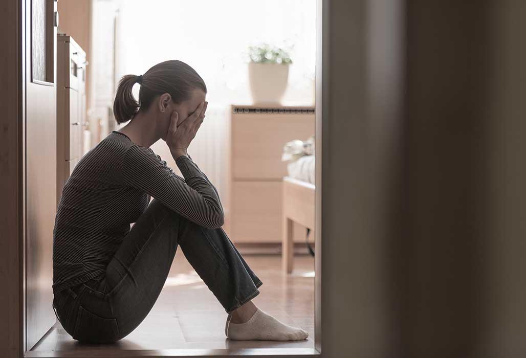 Frau mit Depression