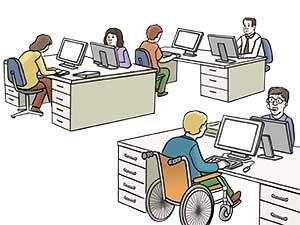 Büro Großraum, 8. BaylfSMV in Leichter Sprache