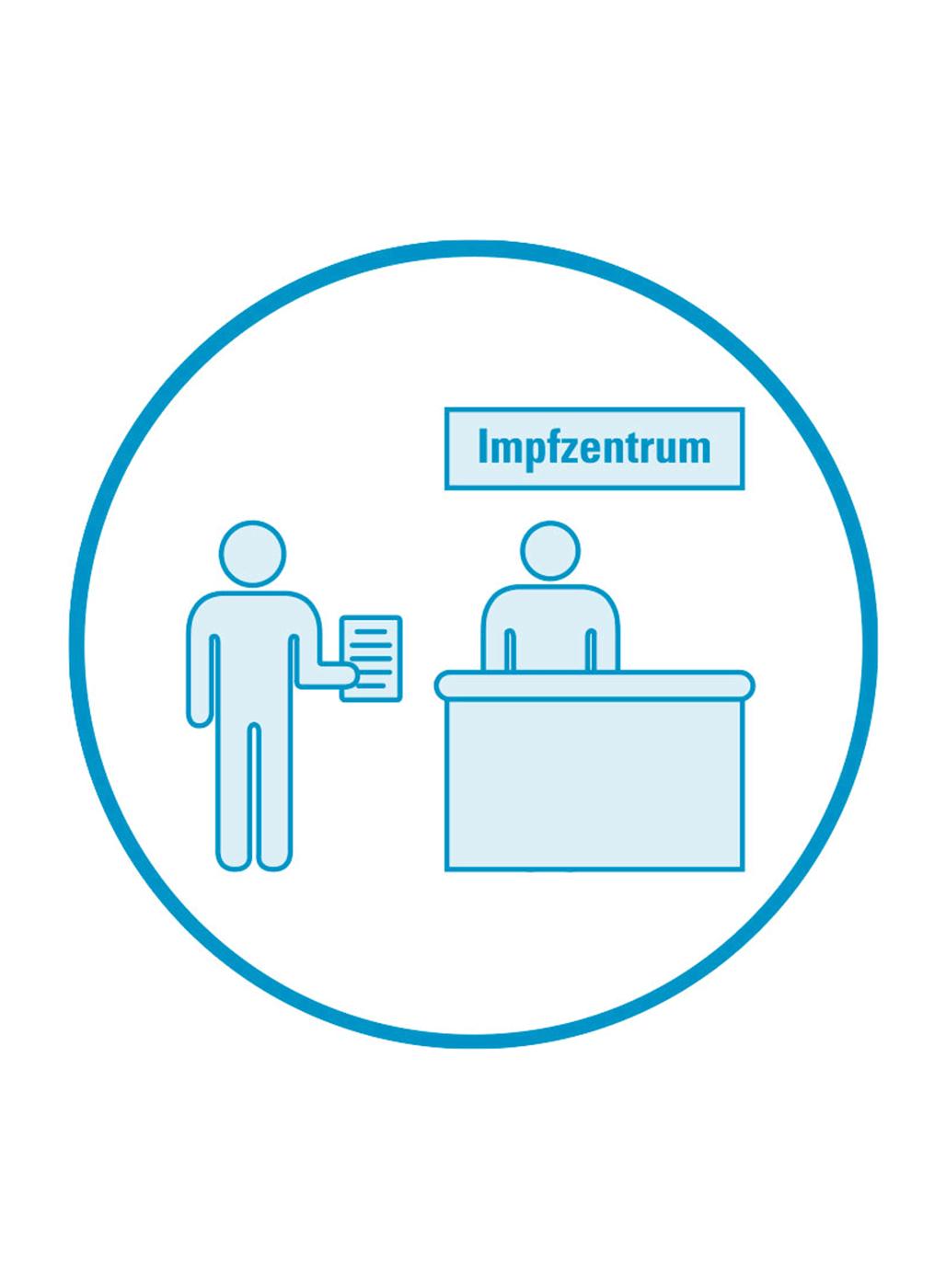 Icon Anmeldung im Impfzentrum