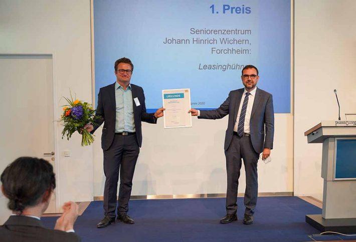 Pressefoto von der Verleihung des Bayerischen Demenzpreises 2020 vom 30. Juni 20221 (PM 165) - Teaserformat