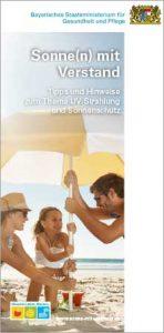 """Frontseite der Broschüre """"Sonne(n) mit Verstand"""""""