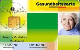 Muster einer elektronischen Gesundheitskarte