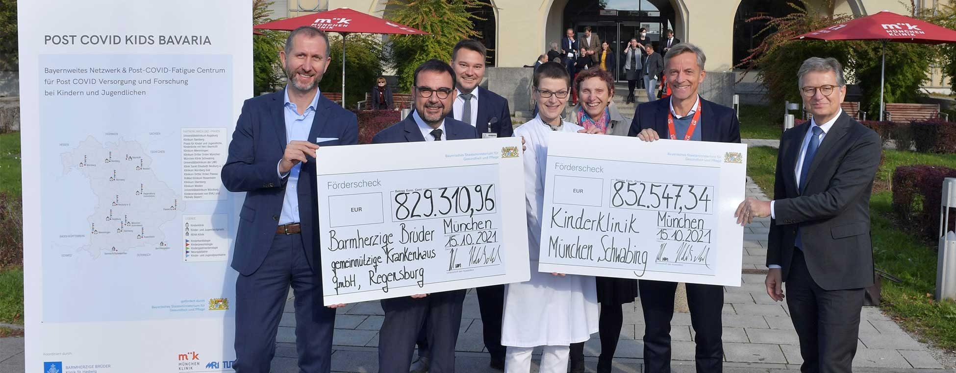 """Bayerns Gesundheitsminister Klaus Holetschek überreicht die ersten Förderbescheide der Förderinitiative """"Versorgungsforschung zum Post-COVID-Syndrom"""